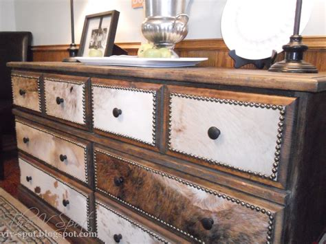 Cowhide dresser diy Image