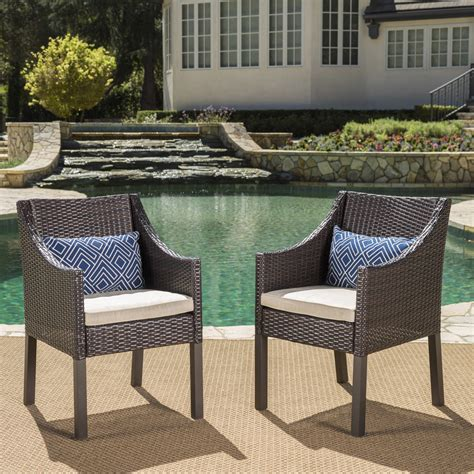 Coyne Patio Dining Chair with Cushion (Set of 2)