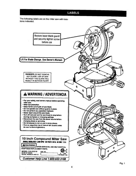 craftsman 10 inch compound miter saw owners manual pdf manual