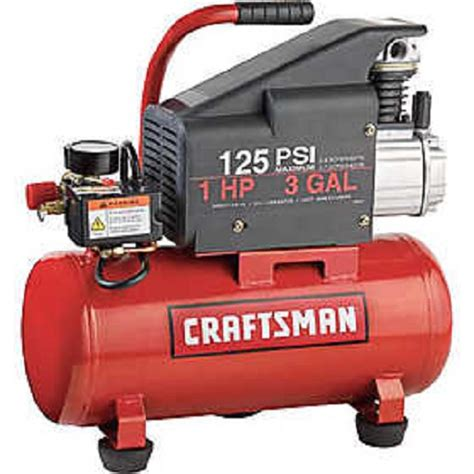 craftsman 3 gal air compressor 1 hp tank 125 psi pdf manual