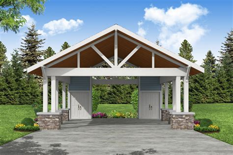craftsman style carport plans