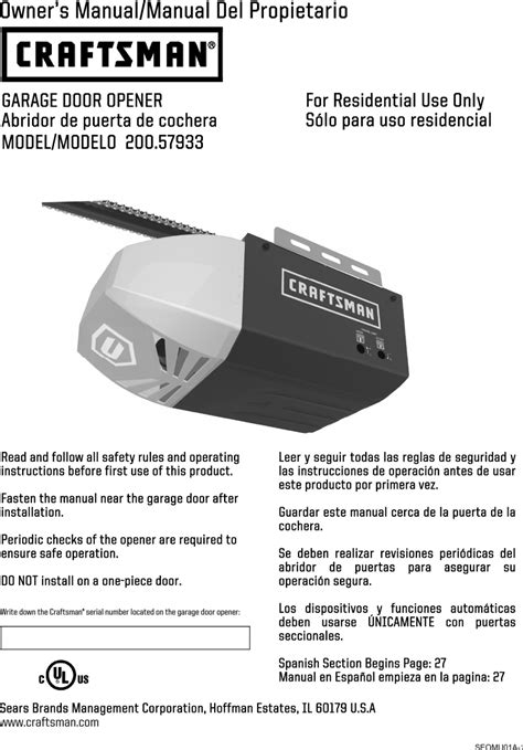 Craftsman Garage Door Opener Manual Make Your Own Beautiful  HD Wallpapers, Images Over 1000+ [ralydesign.ml]