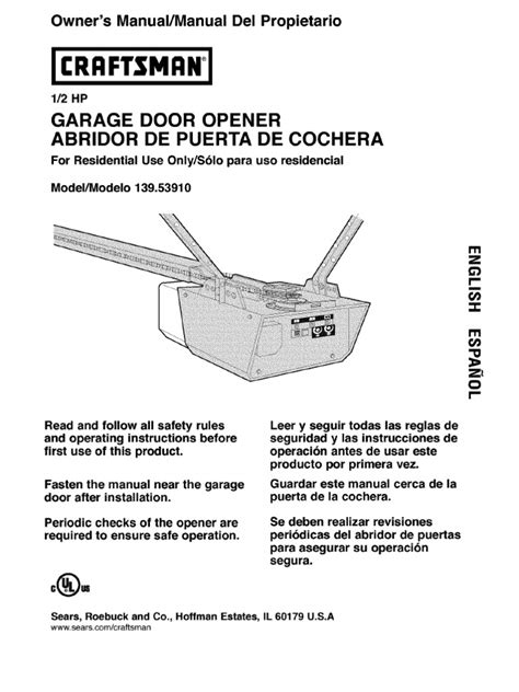 Craftsman Garage Opener Manual Make Your Own Beautiful  HD Wallpapers, Images Over 1000+ [ralydesign.ml]