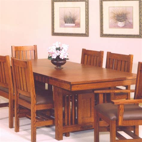 Craftsman dining table and chairs Image