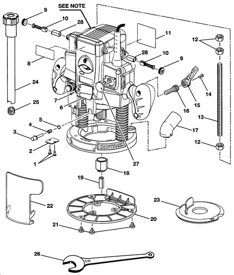 Craftsman router parts Image