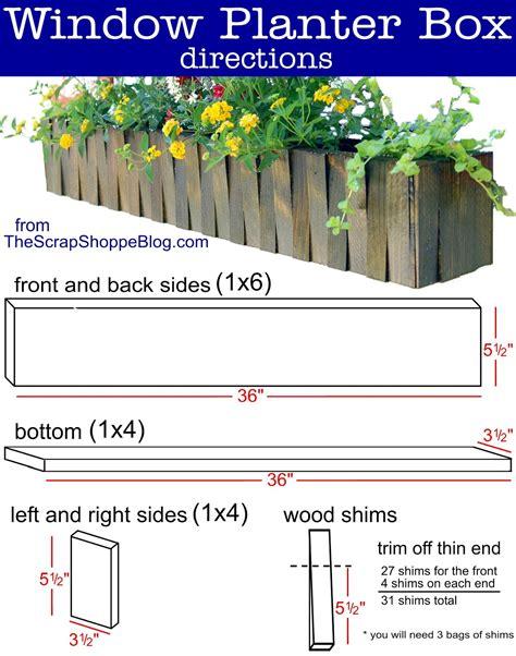 Craftsman window box plans Image