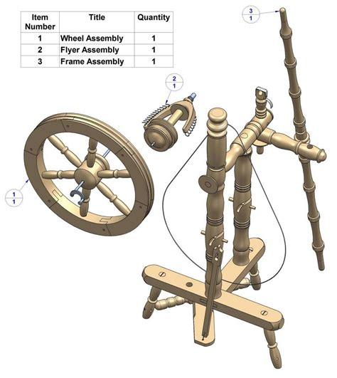 Craftsmanspace spinning wheel woodworking plans Image