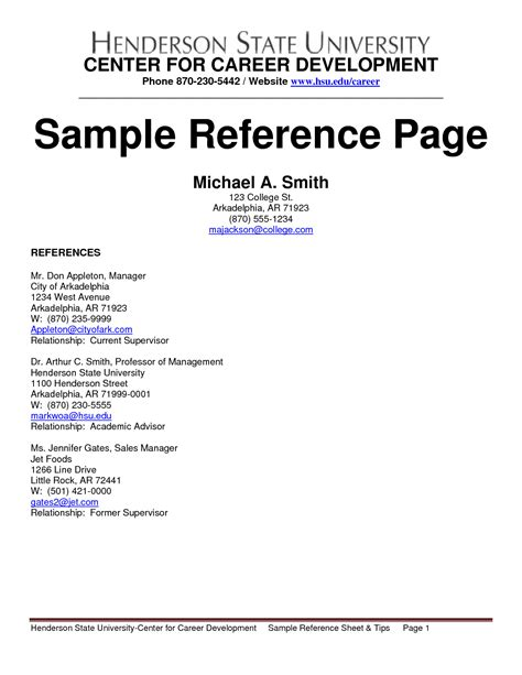 Creating Resume Reference Page 100 Original Papers