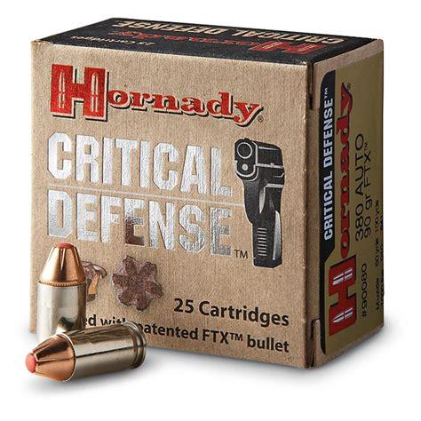 Critical Defense Ammo 380 Auto 90gr Ftx Hornady