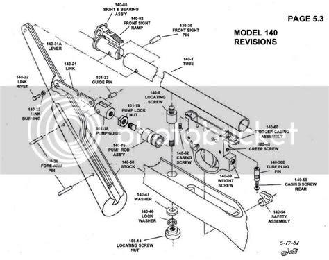 Crosman 760 Pumpmaster Air Rifle Schematics