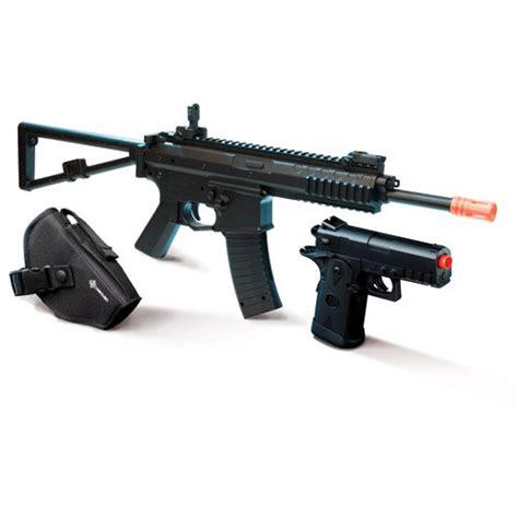 Crosman Ready To Play Airsoft Kit 2 Guns Holsters Bbs