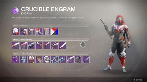 Crucible Gunsmith Faction Reward