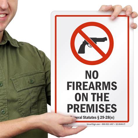 Gun-Store Ct Stores No Gun Policy.