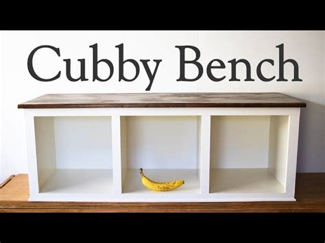 Cubby bench how to make a mud porch or entry way bench moderate diy woodworking Image