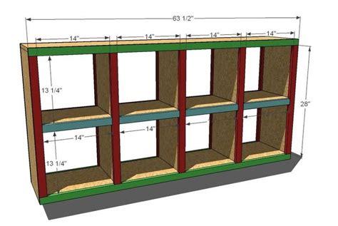 Cubby hole shelves plans Image
