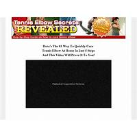 Cure tennis elbow ebook and step by step system online coupon