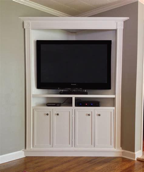 Custom Corner Entertainment Cabinets Image