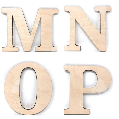 Cut out wooden letters Image