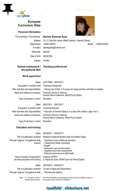 Cv Europass Portugues Download | Curriculum Vitae Template 2015