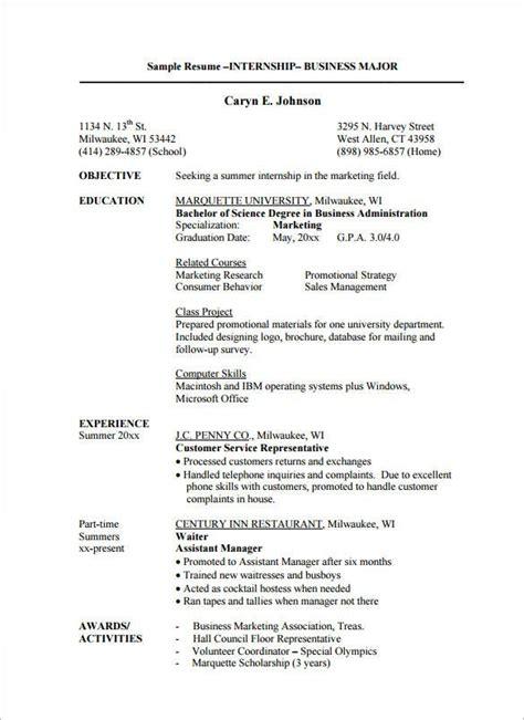 Cv For Fashion Internship Sample | Resume Search In Canada