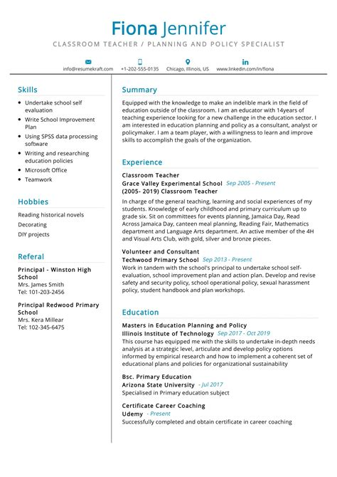Cv Format For Teachers Download How To Create A Curriculum