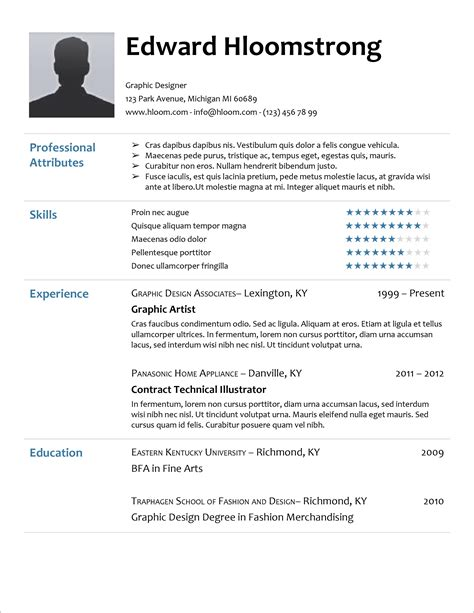 Cv Template Microsoft Monpence CV Templates Download Free CV Templates [optimizareseo.online]