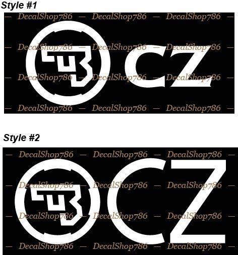 Cz Usa Die Cut Stickers