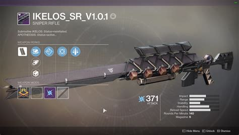 D2 Escalation Sniper Rifle