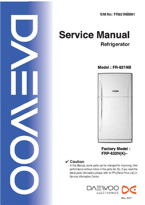 daewoo fridge freezers any good pdf manual