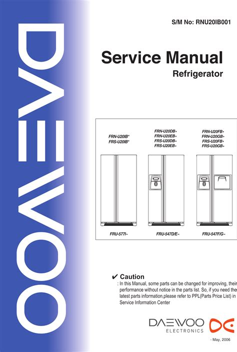 daewood fridge freezer pdf manual