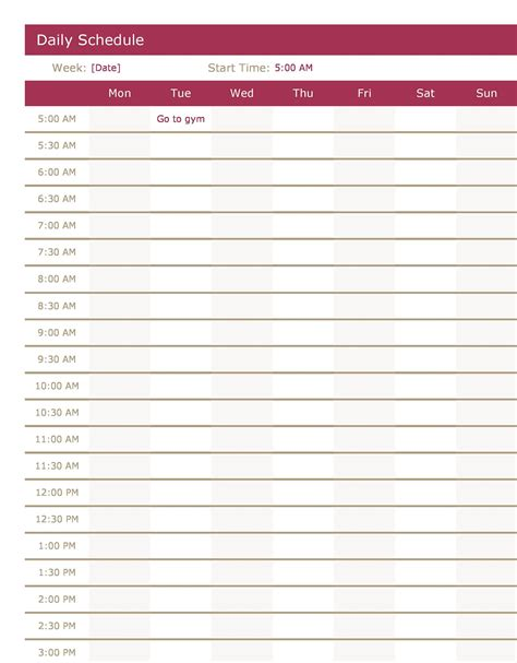 Daily Work Planner Template CV Templates Download Free CV Templates [optimizareseo.online]