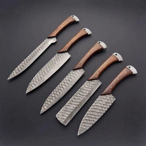 Damascus kitchen knife kits Image
