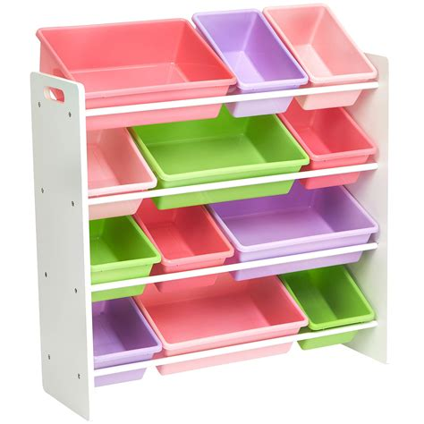 Dark pink toy storage organizer Image
