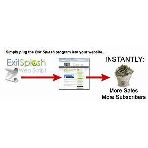 Dave guindon's exit splash exit page software increase sales discount