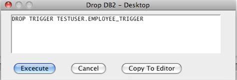 Db2 Drop Trigger