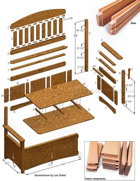 Deacon bench woodworking plans Image