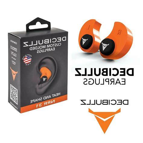 Decibullz Custom Molded Earplug Custom Molded Earplug Orange