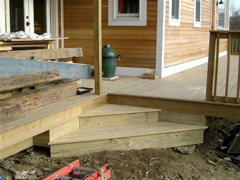 Deck Corner Stairs Design