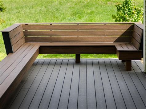 Deck bench ideas plans Image