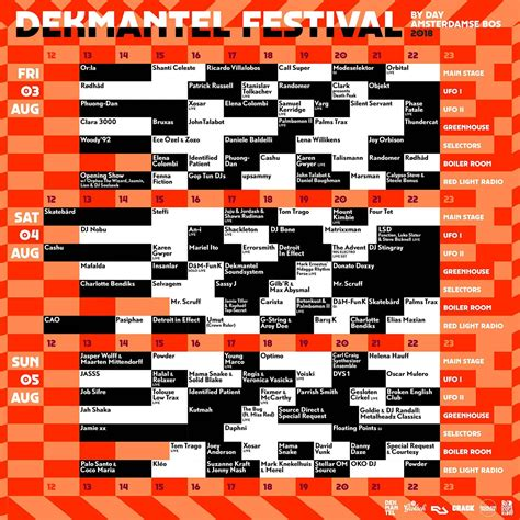 Dekmantel Festival Lineup