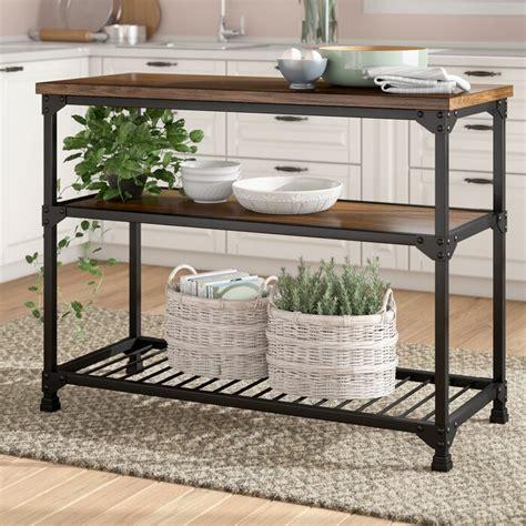 Delesha Multifunction Prep Table with Wood Top