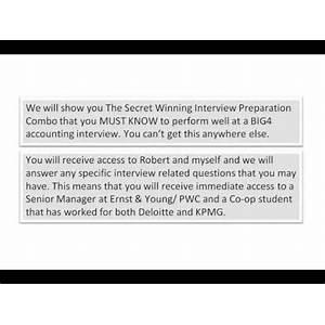 Deloitte interview questions kpmg interview questions pwc interview questions ey interview questions review