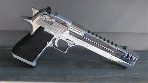 Desert Eagle 50 Ae With Muzzle Brake Chrome - See This