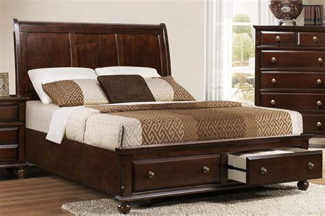 Design For Queen Bed With Drawers Ideas