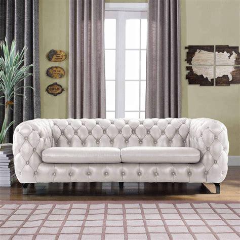 Design Ideas For White Tufted Sofa