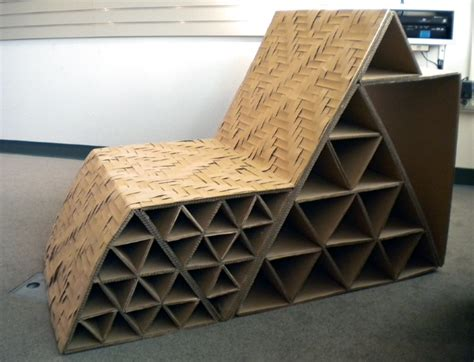 Design a cardboard chair Image