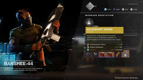 Destiny 2 Cannot Get Gunsmith Reward
