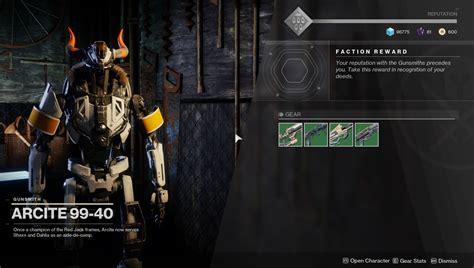 Destiny Gunsmith Broken