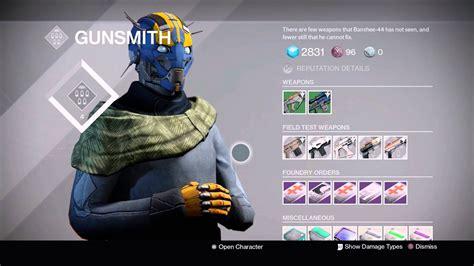 Destiny Gunsmith Rank 4 Titan