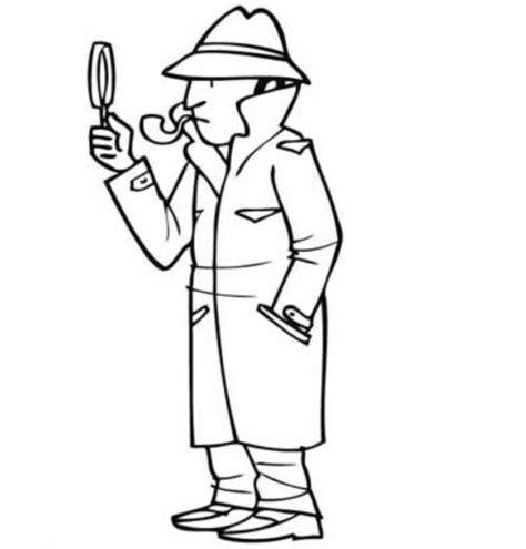 Detektiv Malvorlage